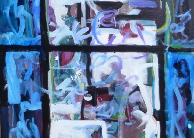 """Window into Blue"" Acrylic on Canvas, 48""x36"", August 2014, 400152"
