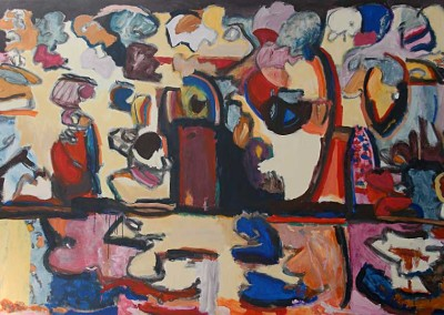 """Beijing Bop"", Acrylic on Canvas, 58.25""x90"", March 2007, 100703"