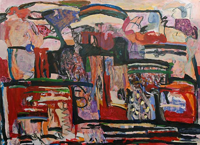 """Deco"", Acrylic on Paper, 44""x60.5"", November 2004, 100202"
