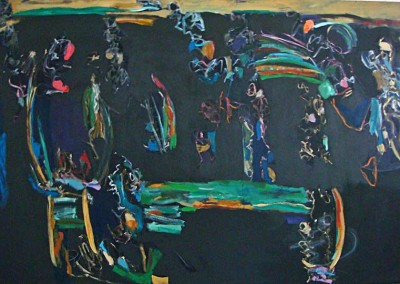 """Regarding the Fresh Green of Spring"", Acrylic on Canvas,  58""x90"", March 2006, 100602"